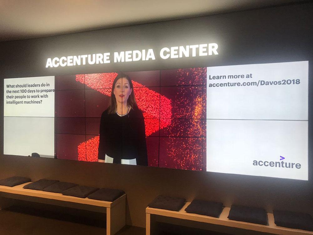 Accenture Media Center at Annual Meeting Davos 2018   Accenture